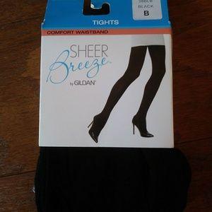 Sheer breeze comfort waistband tights